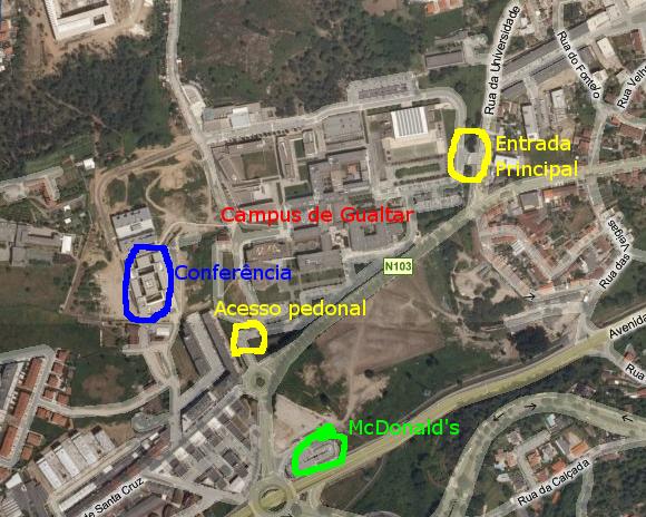 campus de gualtar mapa Mapas: Braga, Gualtar   EIDAO 2008 campus de gualtar mapa